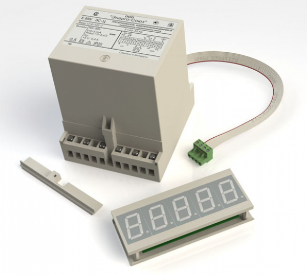 Цифровой измерительный преобразователь напряжения переменного тока с выносной индикацией Е-855Ц