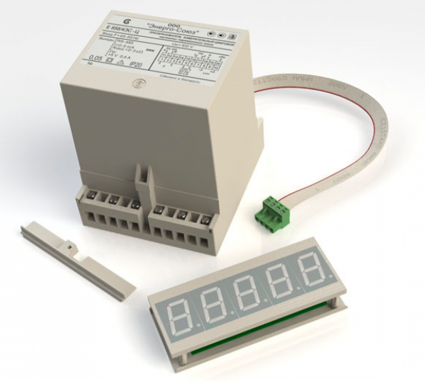 Цифровой измерительный преобразователь частоты переменного тока с выносной индикацией Е-858Ц