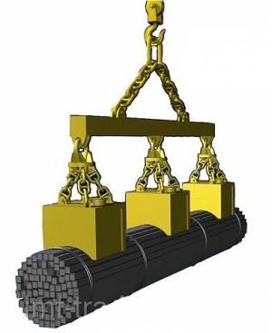 Грузоподъемные злектромагниты серии ЭМСП-6  для сортового проката в связках ЭМСП