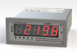 Преобразователи измерительные напряжения переменного тока с индикацией ЦВ-9055